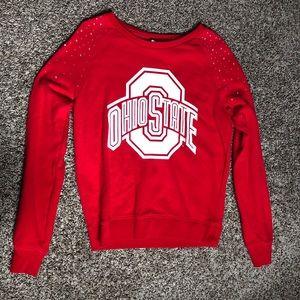PINK OSU bedazzled sweatshirt